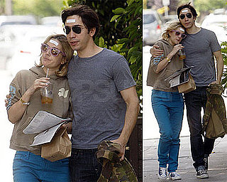 Photos of Drew Barrymore and Justin Long Wearing Fortunes on Their Heads