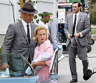 Photos of Jon Hamm and January Jones Filming Mad Men in Pasadena