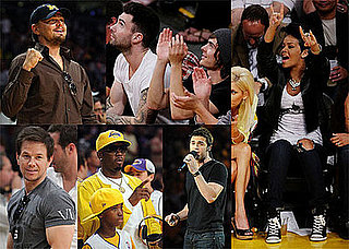 Photos of Leonardo DiCaprio, Zac Efron, Rihanna, Diddy at Lakers Game Two of the Finals