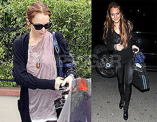 Photos of Lindsay Lohan Arriving at and Leaving Samantha Ronson's House