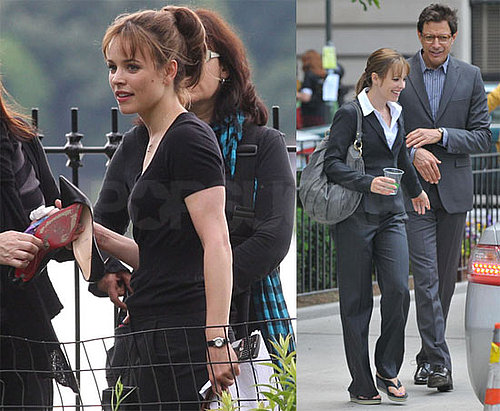 Photos of Rachel McAdams and Jeff Goldblum Filming Morning Glory in NYC
