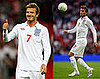Photos of David Beckham Playing With the English Team Against Andorra