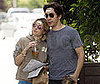 Photo Slide of Drew Barrymore and Justin Long With Fortunes on Their Foreheads