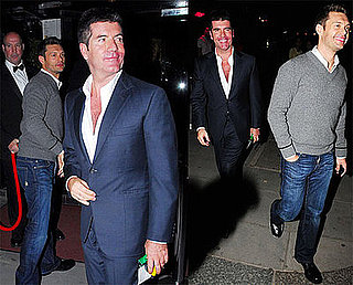 Photos of Ryan Seacrest and Simon Cowell Leaving a Strip Club