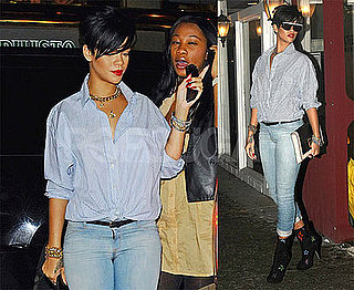 Photos of Rihianna Leaving Dinner at Scalinatella Restaurant