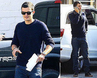 Photos of Orlando Bloom In a Fender Bender in LA