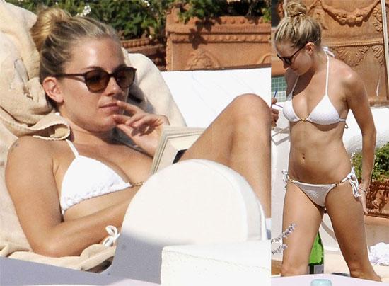 Sienna Miller in White Bikini