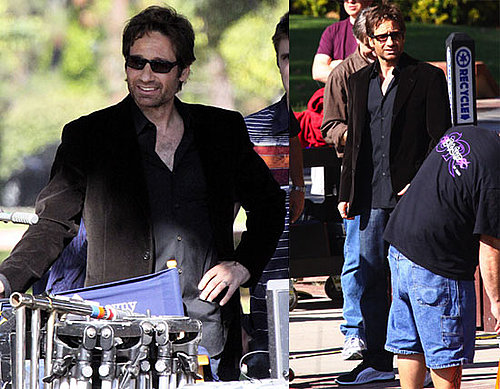 Photos of David Duchovny Filming Californication in LA