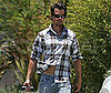 Photo Slide of Josh Duhamel Moving Luggage in LA