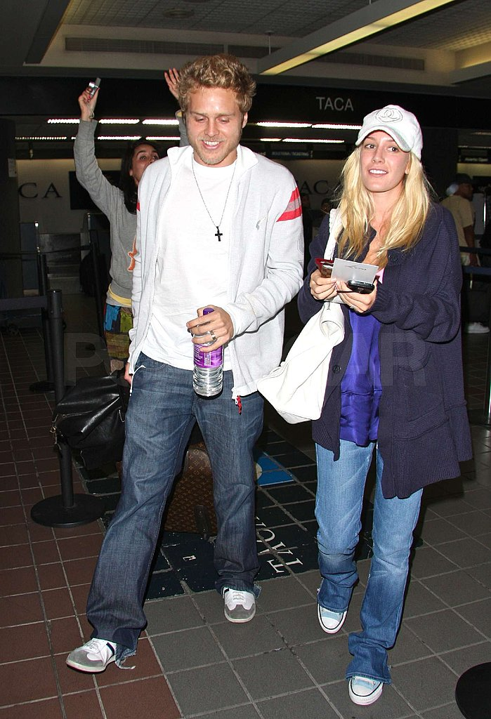 Heidi and Spencer at the Airport