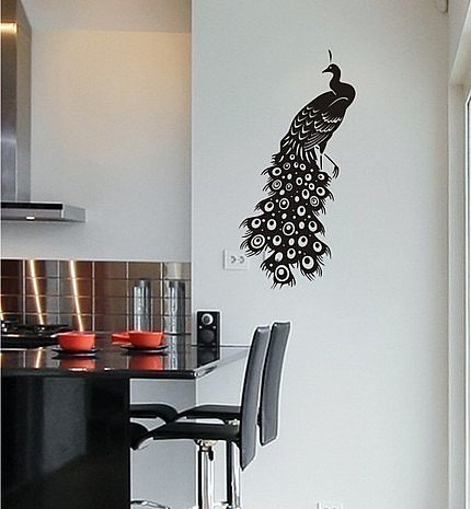 Peacock Vinyl Wall Decal ($22) 