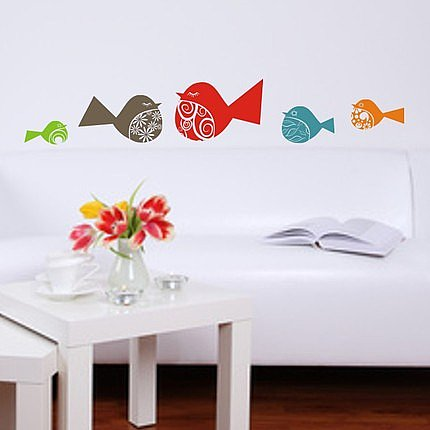 Fancy Birds Wall Vinyl Decal ($15) 