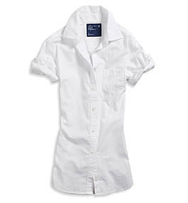 AE Short Sleeve Oxford in White