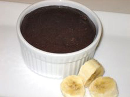 Guiltless Warm Flourless Chocolate Cake