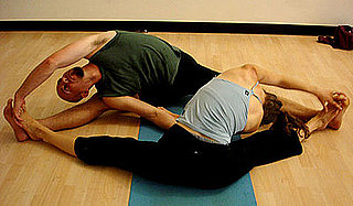Partner Yoga Pose: Twisting Seated Straddle