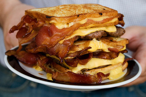 The Double Bacon Hamburger Fatty Melt