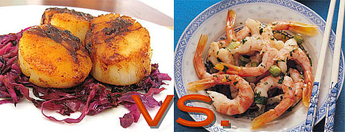 Seafood Dilemma: Shrimp vs. Scallops