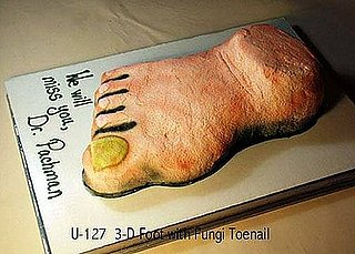 Cake in the Shape of a Foot With Toe Fungus
