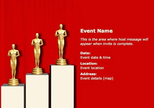 Create Oscar Party Invitations with Pingg