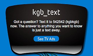 Text KGB For Answers at Your Fingertips