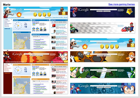 iGoogle's Video Game Themes Announced
