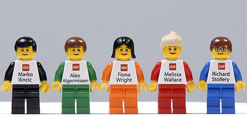 Lego Employees' Business Cards Are Lego With Name and Phone Number Printed on Them