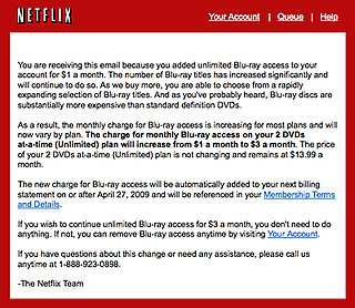 Netflix Raises Blu-ray Access Prices