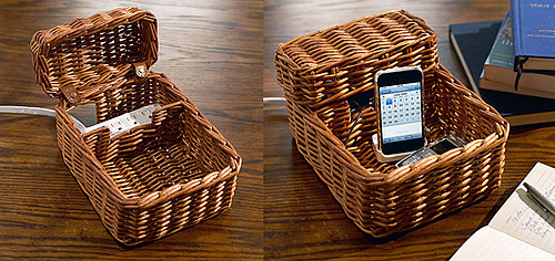 Rattan Charging Station From Pottery Barn
