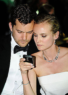 Joshua Jackson and Diane Kruger Pics Using a BlackBerry at Cannes