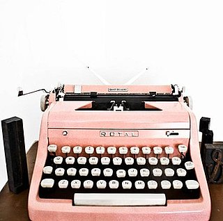 Pink Vintage 1950s Typewriter on Etsy