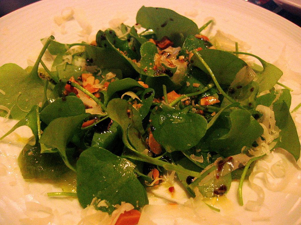 Kiwi & Miner's Lettuce Salad