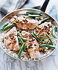 Fast & Easy Recipe For Salmon With Sugar Snap Peas Over Rice