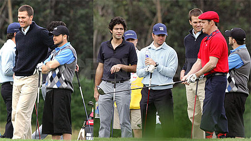 Photos of Tom Brady Filming Entourage in LA With Mark Wahlberg, Adrian Grenier