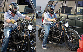 Photos of Brad Pitt On His Motorcycle in LA 2009-06-19 06:00:11