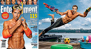 Shirtless Ryan Reynold on Cover of Entertainment Weekly