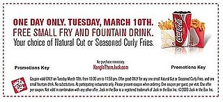 Score Free Jack in the Box Tuesday March 10