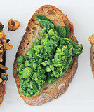Smashed Peas With Mint Bruschetta
