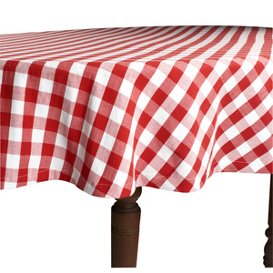 Red and White Check Tablecloth