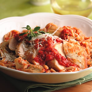 Fast & Easy Dinner: Chicken and Sun-Dried Tomato Orzo