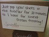 Sprinkles Frozen Frosting Shots
