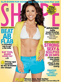 Julia Louis-Dreyfus on Cover of Shape April Issue