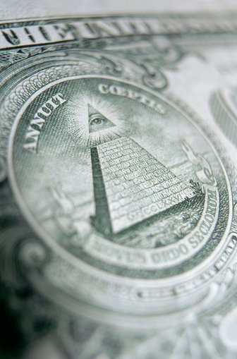 On the back of the dollar there are 13 steps on the pyramid, 13 stars above the eagle's head, 13 war arrows in the eagle's claw, and 13 leaves on the olive branch.