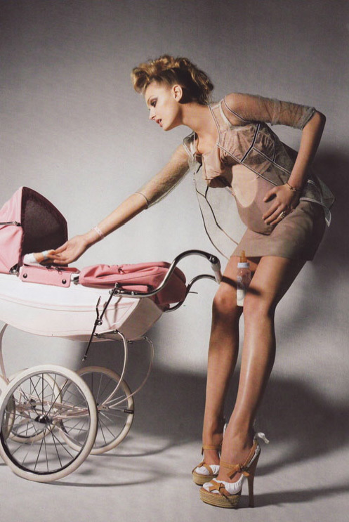 French Vogue's Take on Motherhood