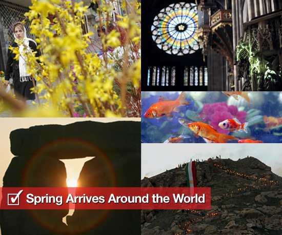Pictures of Vernal Spring Equinox From Around the World