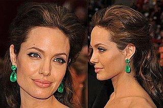 Angelina Jolie @ Oscars 2009: Photo of Hair, Makeup, and Earrings
