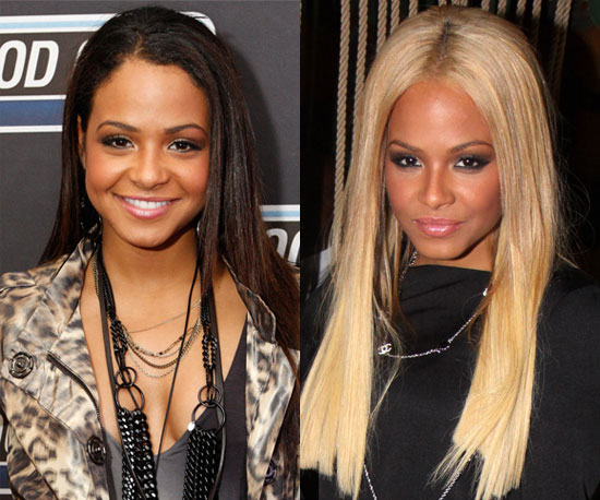 Which hair color is better on Christina Milian?
