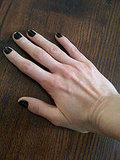 Plain Black Nails