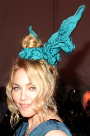 Madonna at the Costume Institute Gala with Hair Accessory