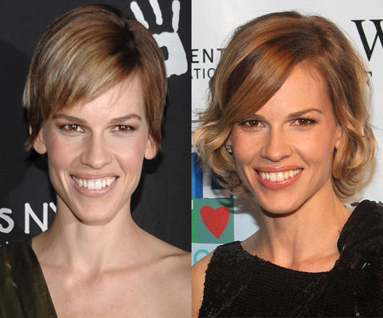 Which length is your favorite on Hilary Swank?