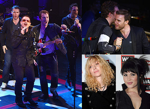 Photos of Coldplay's Chris Martin Performing With Bono, Brandon Flowers and Gary Barlow For War Child